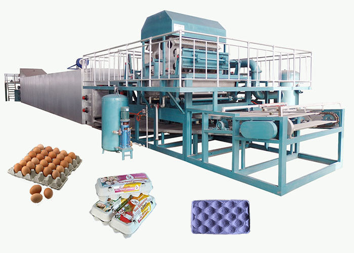 Recycled Paper Pulp Molding Machine For Producing Egg Tray 4000pcs/H